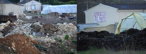 La décharge de Crayssac en bordure de la D811 continue de recevoir des déchets de toute type de manière illégale depuis 10 ans et notamment du compost susceptible de s'enflammer